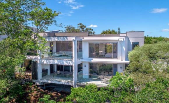 Noosa Hill home hovering over the natural environment for sale