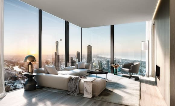 Collins House penthouses available in the world's fourth slimmest tower