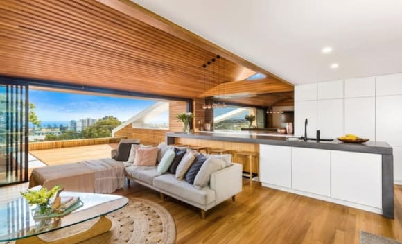 Floating Burleigh Heads home with