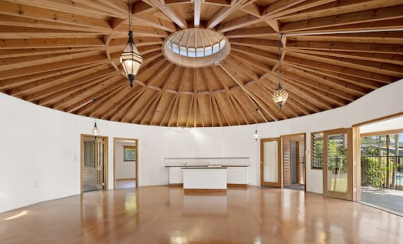 Whitsundays yurt-inspired circular trophy home listed