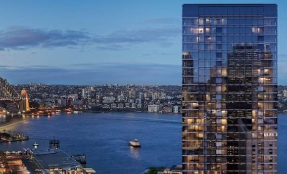 Fire at luxury Wanda apartment development in Sydney's Circular Quay