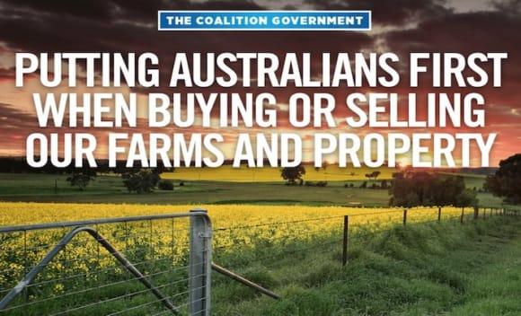 Offmarket rural FIRB sales banned by Treasurer Scott Morrison