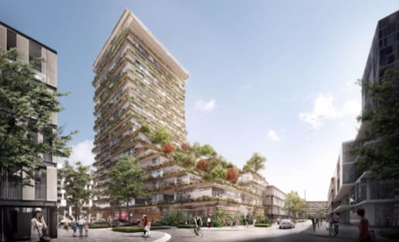 Kengo Kuma's 'Stacking Forest' design wins competition for new Sydney, Waterloo tower