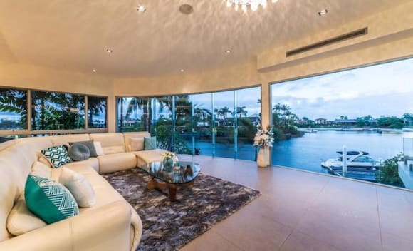 Bundall five bedroom house with water views listed for .28 million
