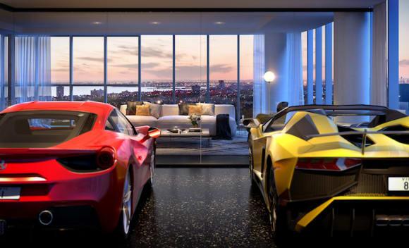 Sky high garages in Melbourne luxury development Neue Grand