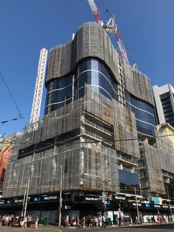 Fragrance Group's Beyonce inspired tower emerges on Spencer Street