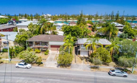 Adjoining Burleigh Heads duplexes bought by local developers at auction