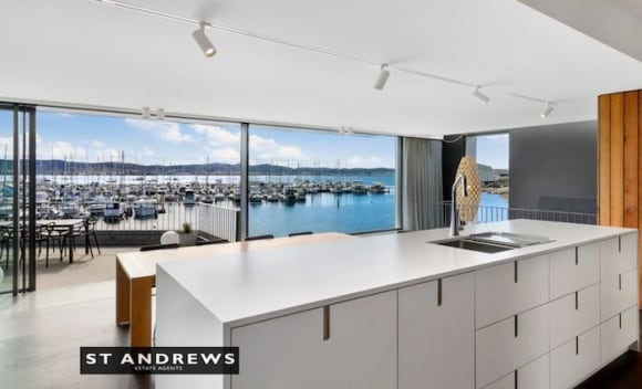 Waterfront Sandy Bay trophy home on the market
