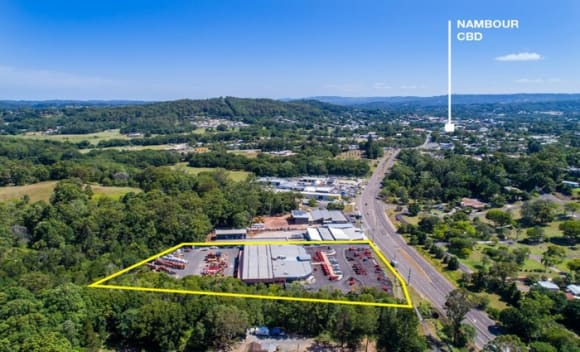 Savills marketing an industrial/retail-showroom facility in Nambour
