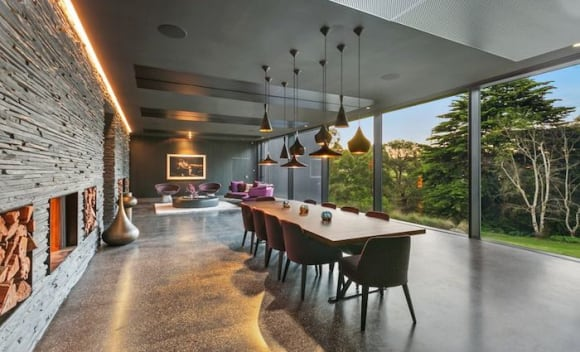 Striking Adelaide Hills concrete trophy home listed