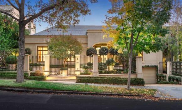 Businessman Graeme Samuel lists Toorak home with -8.4 million hopes