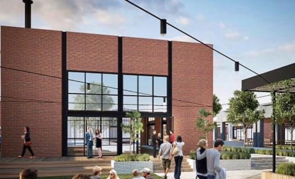 Stomping Ground Brewing Company sign 10 year lease at Morris Moor