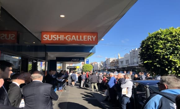 100+ crowd drives .8 million sale price at retail auction in Malvern