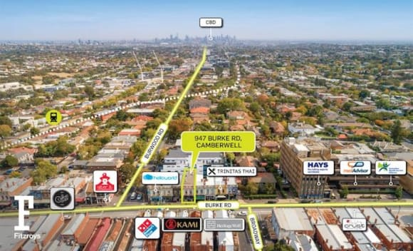 Three storey mixed use Camberwell freehold sold