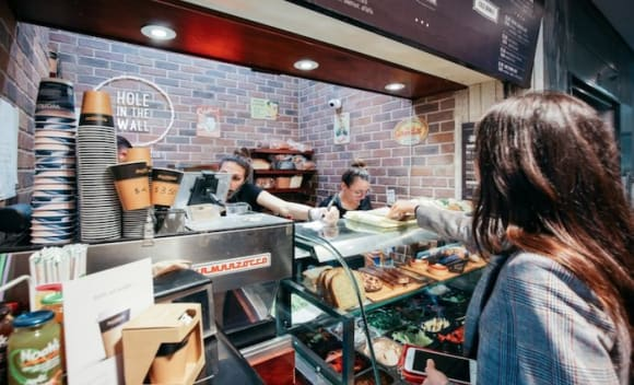 Hole in the Wall Cafe on Sydney's Macquarie Street listed through Savills