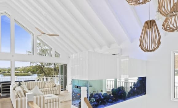 Waterfront Hamptons-style trophy home in Tweed Heads West listed for auction