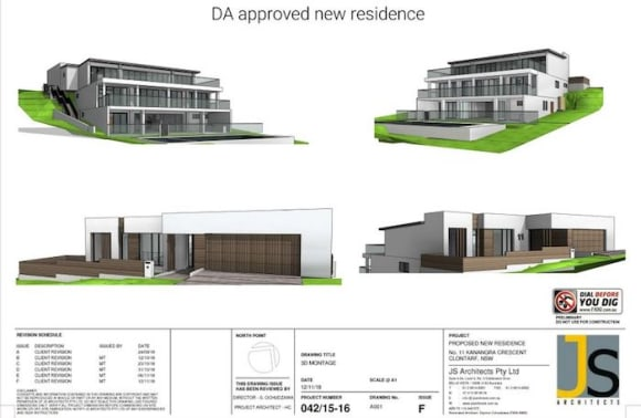 DA approved trophy home plans in Clontarf