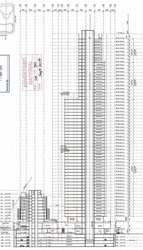 SOUTH YARRA   Capitol Grand - 241 Toorak Road   50L   178m   Residential