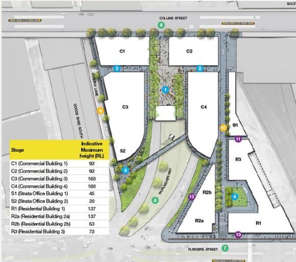 DOCKLANDS   Melbourne Quarter   Batman's Hill   681-701 Collins Street   >160m   Multi Tower   Mixed Use