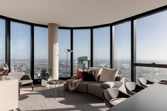 Apartments in Melbourne's Australia 108, the Southern Hemisphere's tallest residential tower, listed for sale