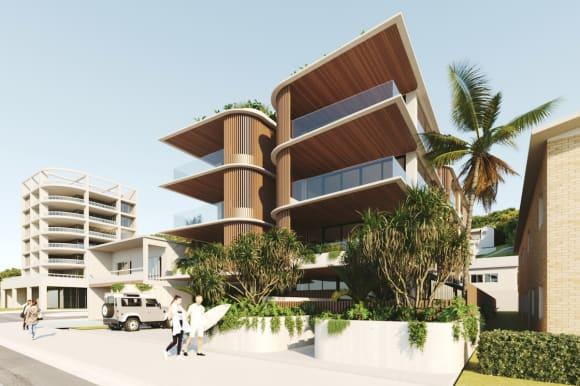 Take a look at the new Currumbin apartment development, Kora
