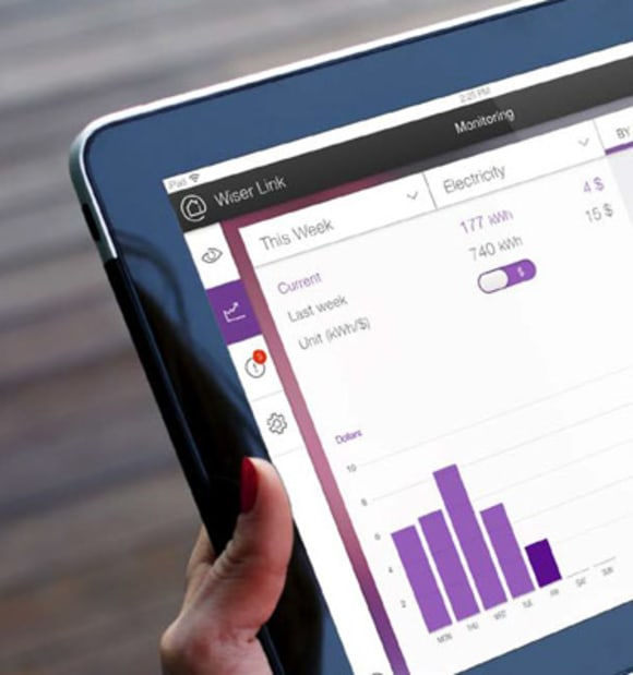 Wiser Link Energy Management Tool. Credit: The Burcham in Rosebery