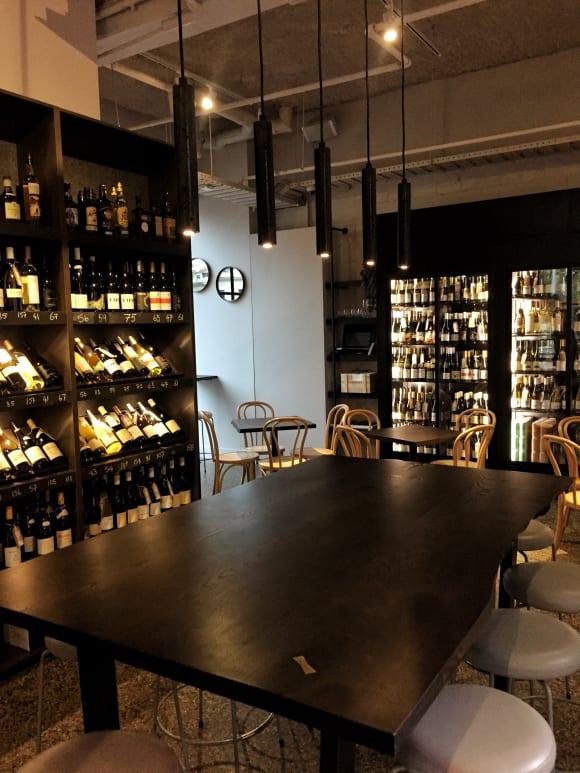 On-site wine bar Lord Lygon