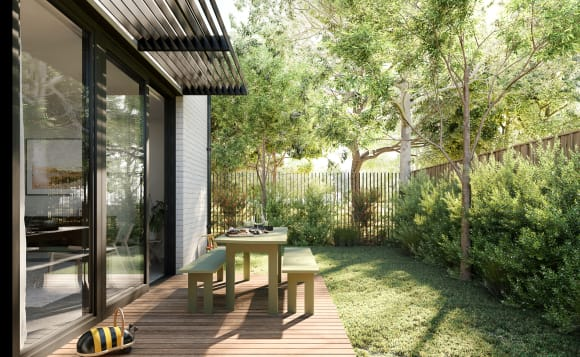 Australia's first townhome development to receive an 8-star NatHERS rating is all thanks to strategically placed sliding doors