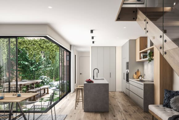 Why Mirvac's Altona North townhouse community The Fabric received 7-star green living rating