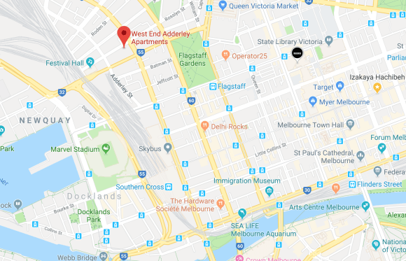 Location of the West End complex. Image by Google Maps.