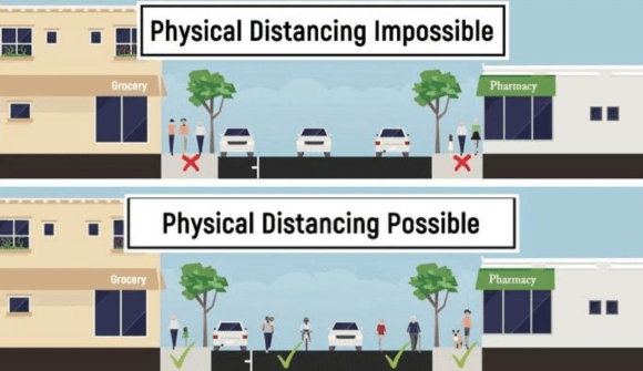 Making physical distancing possible - Seizing the Opportunity to Make Streets for People.