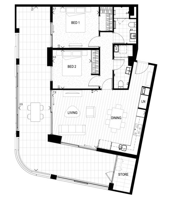 Shenton Quarter, Perth apartments offer abundant open plan living