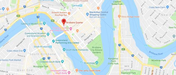 The One Brisbane location