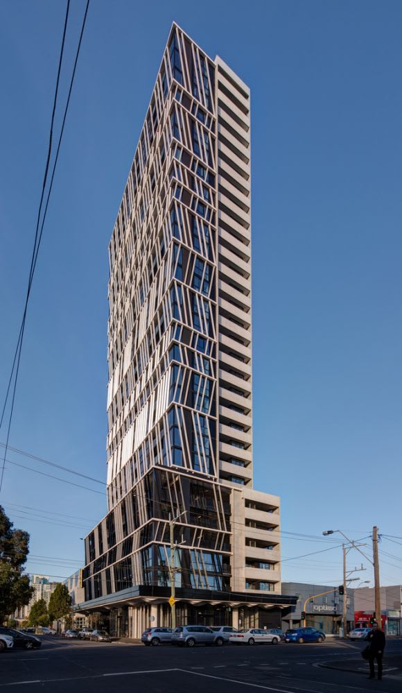 Gravity Tower in Fishermans Bend now complete
