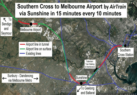 The spotlight briefly shines on Melbourne Airport Rail Link once again