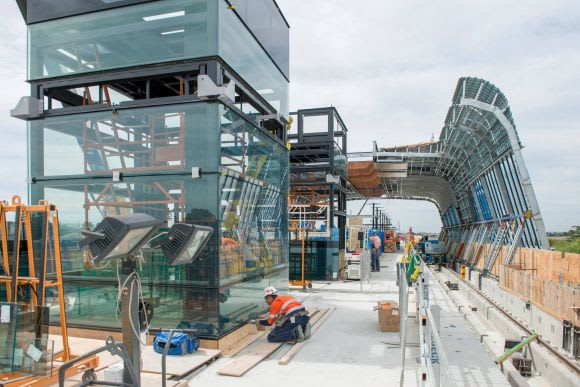 Clayton's near-complete station is ringed by eleven projects