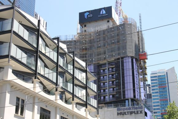 Proposals no more, the top end of Elizabeth Street is now a story of mass construction