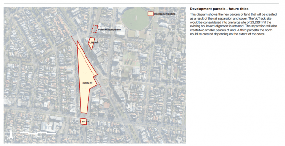 Essendon Junction structure plan and Buckley Street grade separation