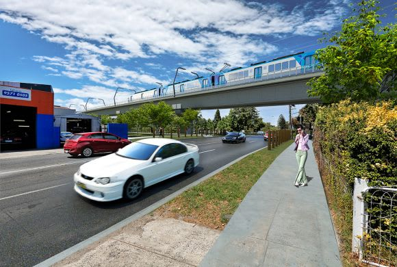 It's elevated rail for the Dandenong corridor level crossing removals