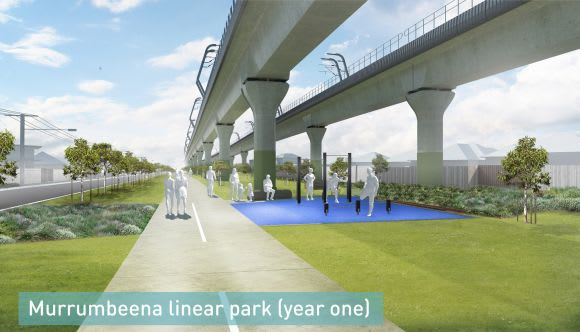 Wraps come off new linear park plans between Caulfield and Dandenong