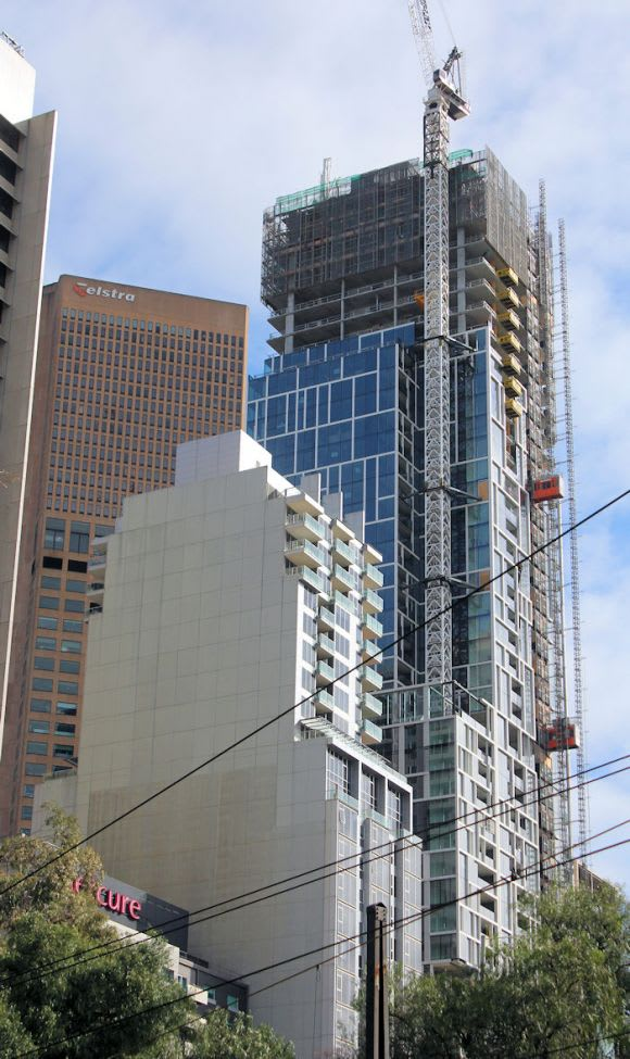 35 Spring Street marks its place in the skyline