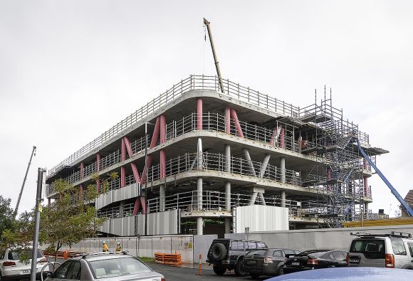 Richmond High School's Academic Building tops out
