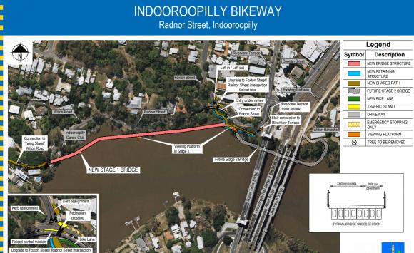 Brisbane City Council unveils Indooroopilly bikeway project