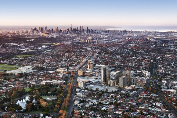 How many suburban Melbourne job centres could be connected with a circular railway?