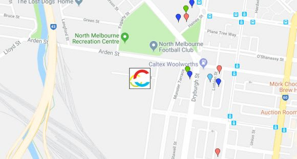 An overview of the projects in the vicinity of the new North Melbourne (Arden) station