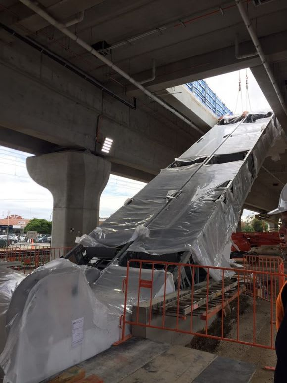 New station canopy and escalators appear at Noble Park