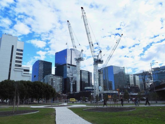 A snapshot of Melbourne's construction - August 2018