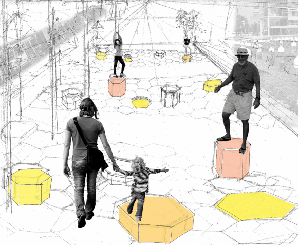 RMIT students propose pop-up activation for Docklands