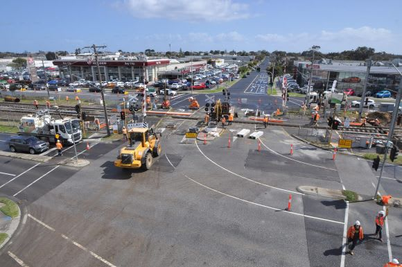 Level Crossing Removals steaming through Spring school holidays