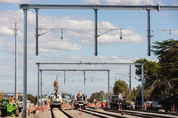 South Morang extension starting to look like a railway line